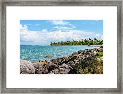 Orange Bay In Portland Jamaica Framed Print