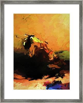 Orange Bull Cat Framed Print