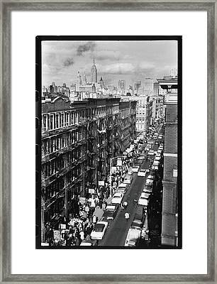 Orchard Street, 1963 Framed Print by Fred W. McDarrah