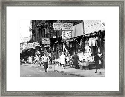Orchard Street Market On The Lower East Framed Print