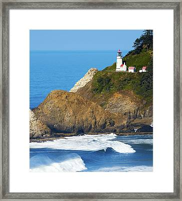 Framed Print featuring the photograph Oregon Coast Heceta Head Lighthouse 116 by Rospotte Photography