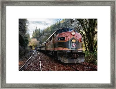 Oregon Coast Railroad Framed Print