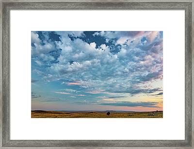 Oregon High Desert Cloudscape Framed Print by Leland D Howard