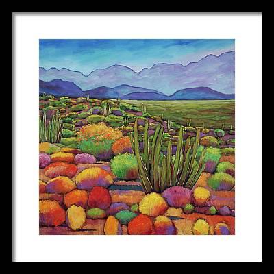 Desert Landscape Framed Prints