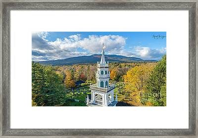 Framed Print featuring the photograph Original Meeting House Jaffrey Nh by Michael Hughes