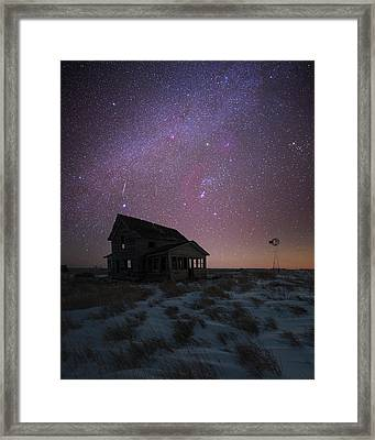 Framed Print featuring the photograph Orion  by Aaron J Groen