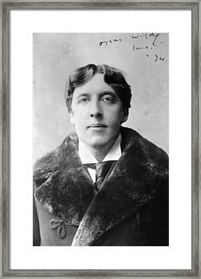 Oscar Wilde Framed Print by Alfred Ellis & Walery