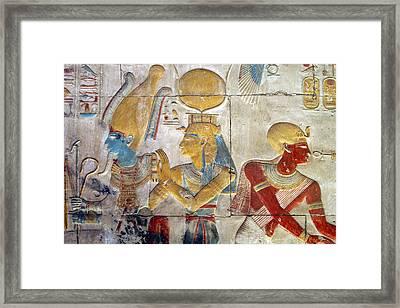 Osiris And Isis, Abydos Framed Print by Joe & Clair Carnegie / Libyan Soup