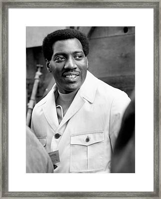 Otis Redding At Monterey Pop Framed Print by Michael Ochs Archives