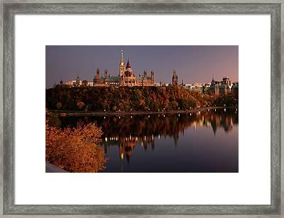 Ottawa At Dusk Framed Print