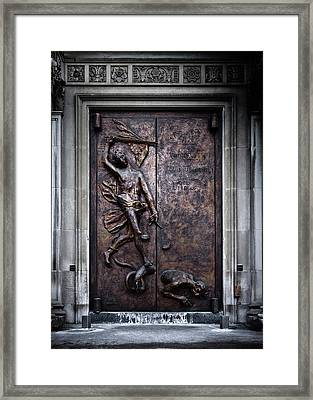 Framed Print featuring the photograph Our Lady Of Sorrows Doorway Color Version by Brian Carson