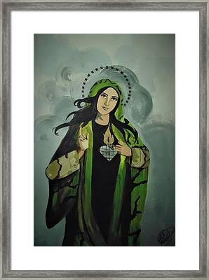 Our Lady Of Veteran Suicide Framed Print