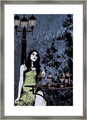 Out At Night Framed Print