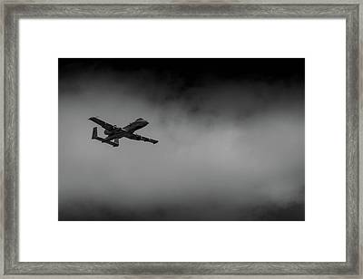 Out Of The Clouds - A-10c Thunderbolt Framed Print