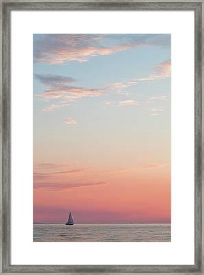 Outer Banks Sailboat Sunset Framed Print