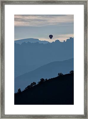 Over The Cimarrons Framed Print