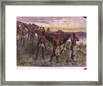 Overland Boat Framed Print by Hulton Archive