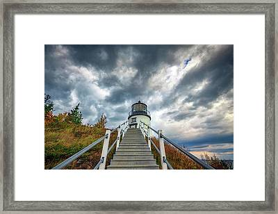 Framed Print featuring the photograph Owls Head Lighthouse by Rick Berk