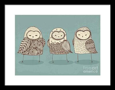 Spotted Owl Framed Prints