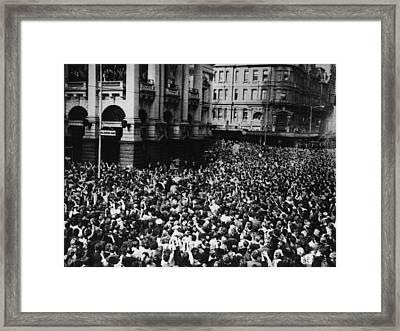 Oz Beatles Crowd Framed Print by Central Press