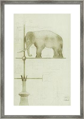 Pachyderm House, Philadelphia Zoo, Detail Of Weather Vane Framed Print
