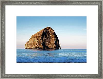 Framed Print featuring the photograph Pacific City Cape Kiwanda 101618 by Rospotte Photography