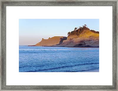 Framed Print featuring the photograph Pacific City Cape Kiwanda Morning by Rospotte Photography