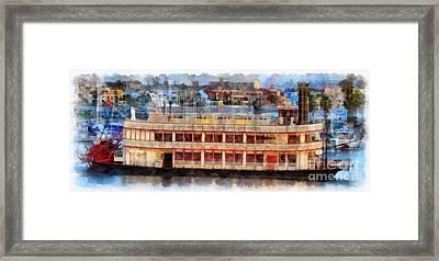 Paddlewheel San Diego Mission Bay Framed Print