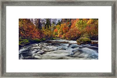Palisades Creek Autumn Light Framed Print by Leland D Howard