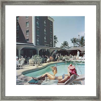 Palm Beach Framed Print by Slim Aarons