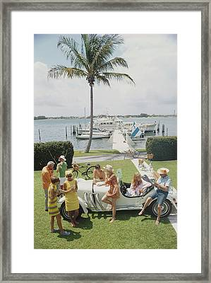 Palm Beach Society Framed Print