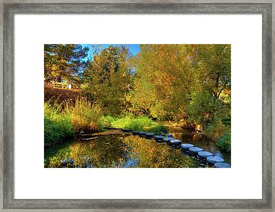 Framed Print featuring the photograph Palouse River Reflections by David Patterson
