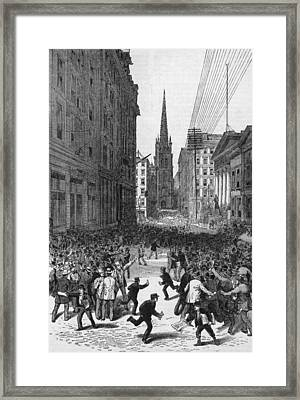 Panic On Wall Street Framed Print by Archive Photos