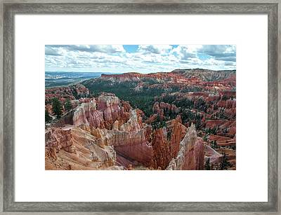 Panorama  From The Rim, Bryce Canyon  Framed Print