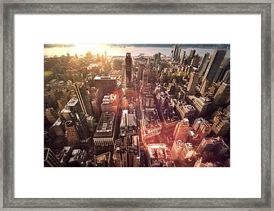 Panoramic View Of A Modern City Framed Print by Ana Aguiar / Eyeem