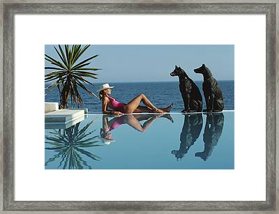 Pantz Pool Framed Print