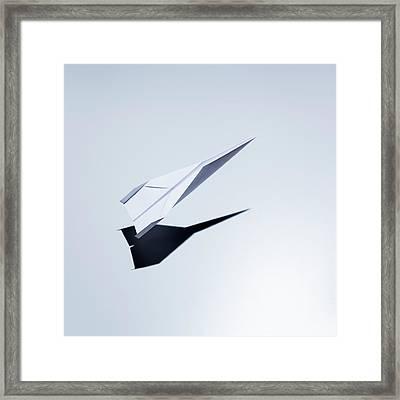 Paper Plane Taking Off Framed Print by Jorg Greuel