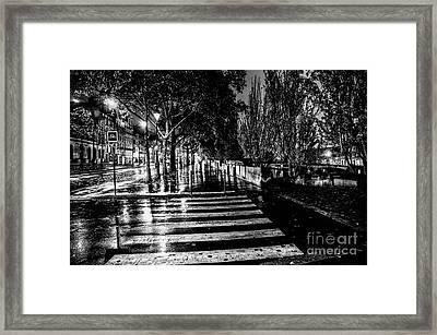 Paris At Night - Quai Voltaire Framed Print