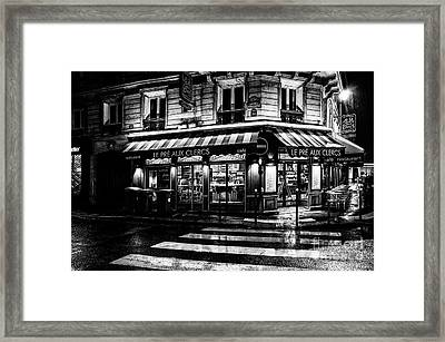 Paris At Night - Rue Bonaparte Framed Print