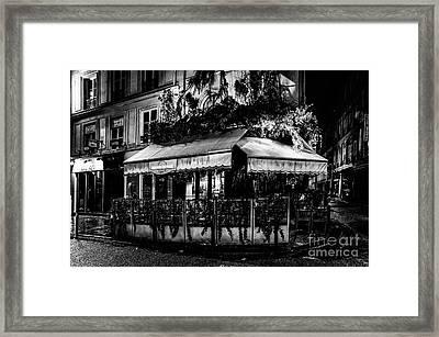 Paris At Night - Rue De Buci Framed Print