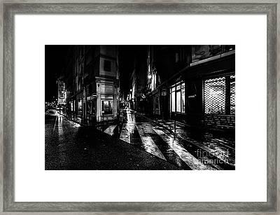 Paris At Night - Rue De Seine Framed Print