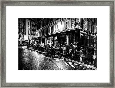 Paris At Night - Rue Jacob Framed Print