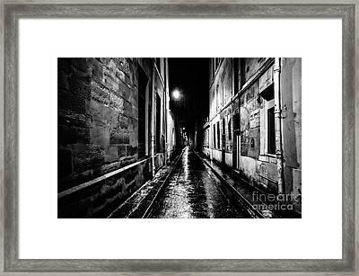 Paris At Night - Rue Visconti Framed Print
