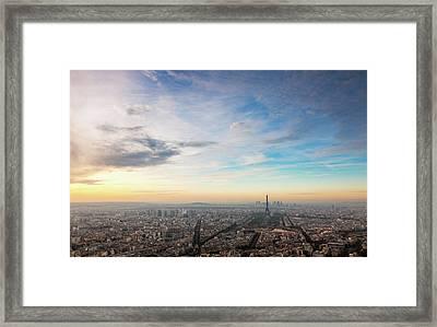 Paris Atmosphere Framed Print by John And Tina Reid
