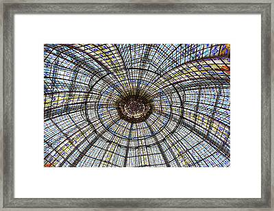 Framed Print featuring the photograph Paris Ceilings by Melanie Alexandra Price