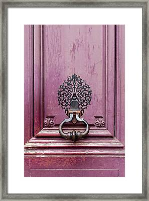 Framed Print featuring the photograph Paris Door Knocker II by Melanie Alexandra Price