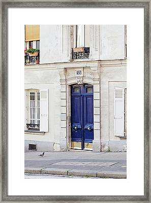 Framed Print featuring the photograph Paris Doors No. 55 by Melanie Alexandra Price