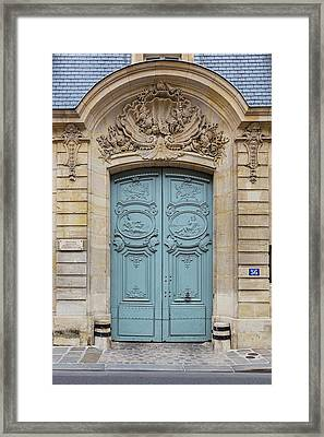Framed Print featuring the photograph Paris Doors No. 56 by Melanie Alexandra Price