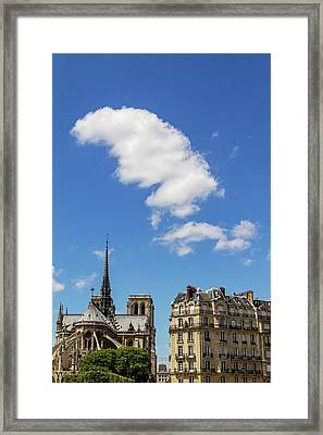 Framed Print featuring the photograph Paris Ile De La Cite by Melanie Alexandra Price
