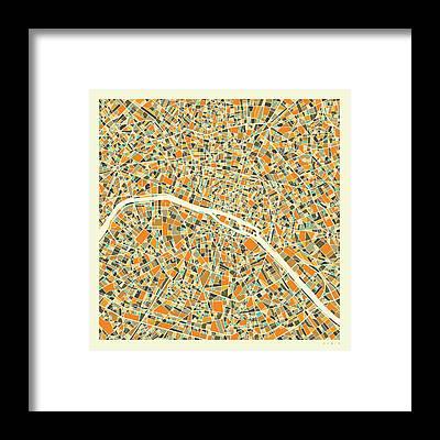 Paris Map Art Pixels
